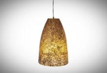 Hanglamp Wangi Gold Cone 28cm
