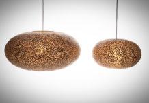 Hanglamp Wangi Gold UFO 40-60cm-