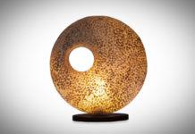 Tafellamp Wangi Gold donut 45cm