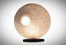 Tafellamp Wangi White donut 45cm