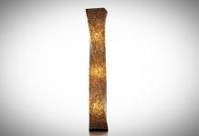 Vloerlamp Wangi Gold Twisty 150 cm-