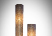 Vloerlamp Wangi gold cilinder 150-200cm